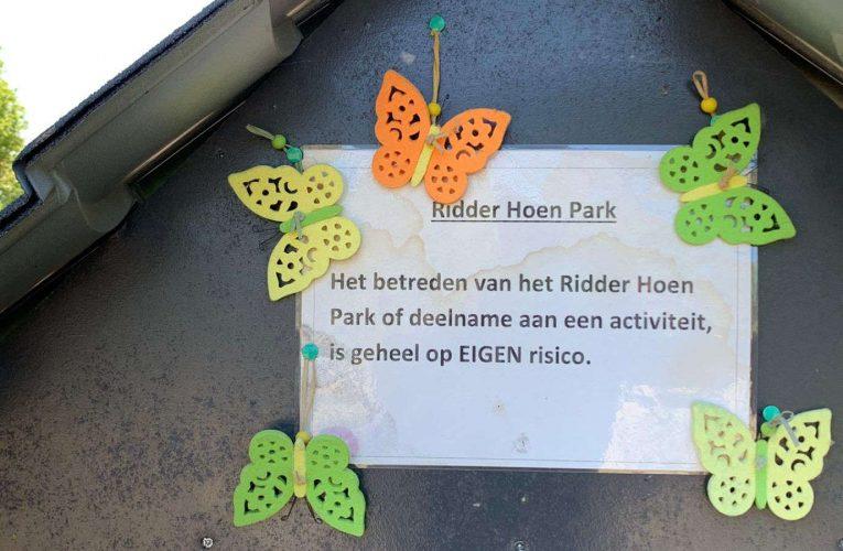 Hoensbroekகிலுள்ள பட்டாம்பூச்சி Ridder Hoen பூங்கா தவறுதலாக வெட்டப்பட்டது.