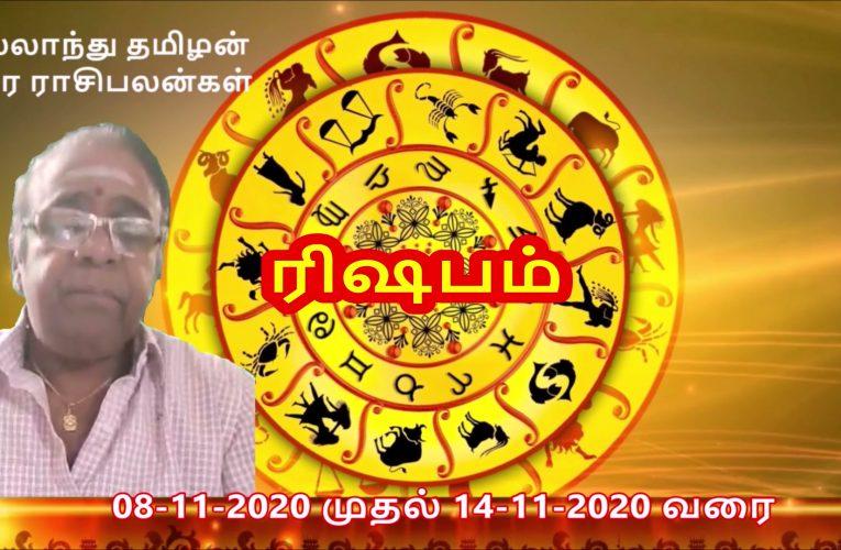 ராசிபலன்கள் 08-11-2020 முதல் 14-11-2020 வரை